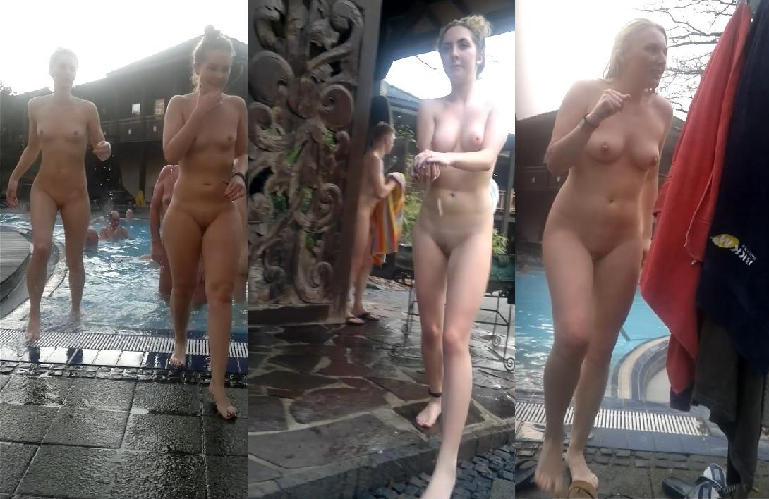 Naked Women Spied While In The Sauna
